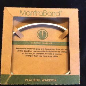 NEW Mantra Band peaceful warrior bracelet